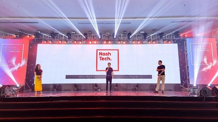 Sự kiện công bố nhận diện thương hiệu mới của NashTech diễn ra tại TP HCM.