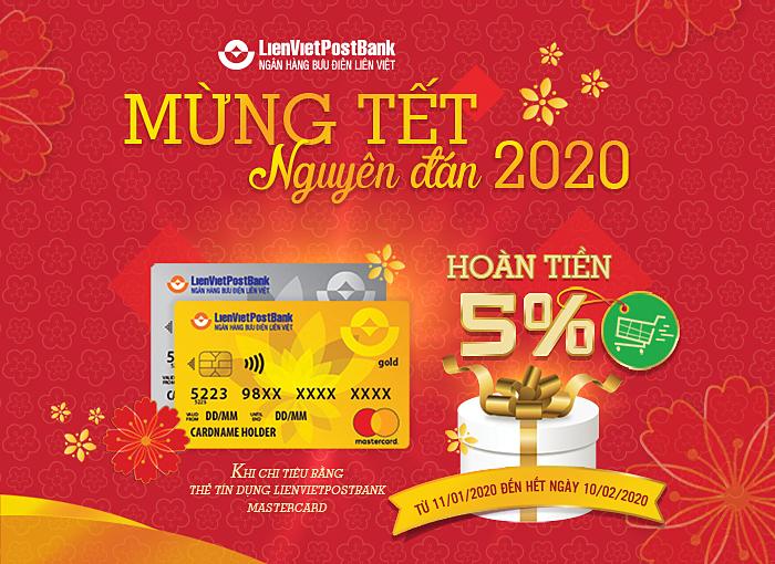 LienVietPostBank hoàn tiền chủ thẻ MasterCard dịp Tết - ảnh 1