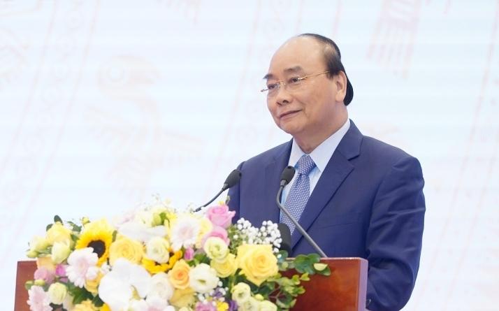 Thủ tướng Nguyễn Xuân Phúc tại Hội nghị tổng kết hoạt động của Siêu ủy ban. Ảnh: VGP