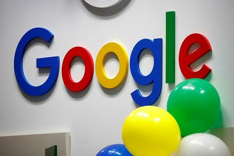 Logo Google tại một sự kiện ở Paris (Pháp). Ảnh: Reuters