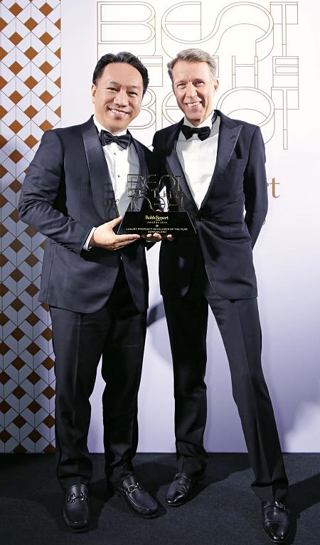 Ông Andy Han - Tổng giám đốc SonKim Land nhận giải thưởng Nhà phát triển bất động sản cao cấp tốt nhất (Best Luxury Property Developer of the Year).