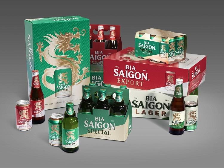 Bộ nhận diện mới trong các dòng bia của Sabeco.