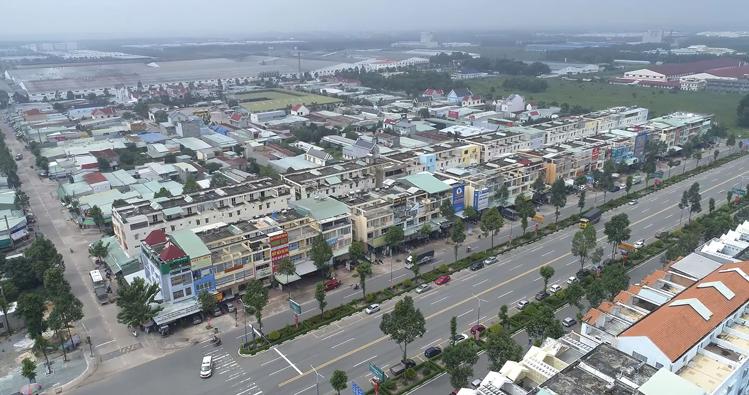 Trung tâm huyện Bàu Bàng.