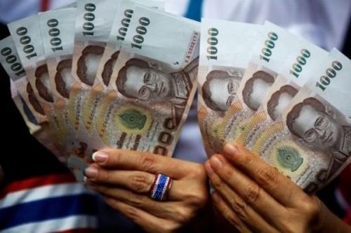 Đồng baht của Thái Lan. Ảnh: Reuters