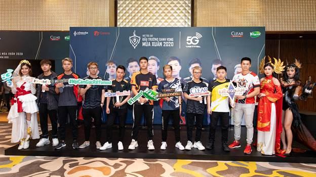 Tám đội tuyển Liên Quân Mobile chuyên nghiệp hàng đầu Việt Nam cùng tham gia giải đấu Viettel 5G Đấu Trường Danh Vọng mùa xuân 2020.