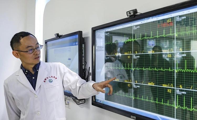 WeDoctor cung cấp dữ liệu cho thấy có 777.000 cuộc tư vấn trực tuyến giai đoạn23-30/1. Ảnh: SCMP