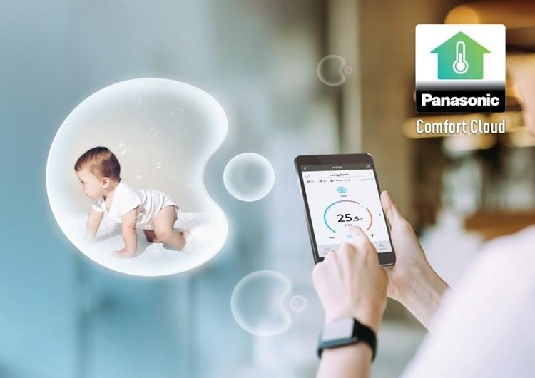 Panasonic Comfort Cloud kết nối điều hòa với điện thoại thông minh qua wifi giúp người dùng dễ dàng chuẩn bị bầu không khí sạch cho cả gia đình.