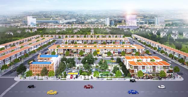 Phố thương mại Lộc Phát tọa lạc ở trung tâm của Bến Cát – Bàu Bàng.