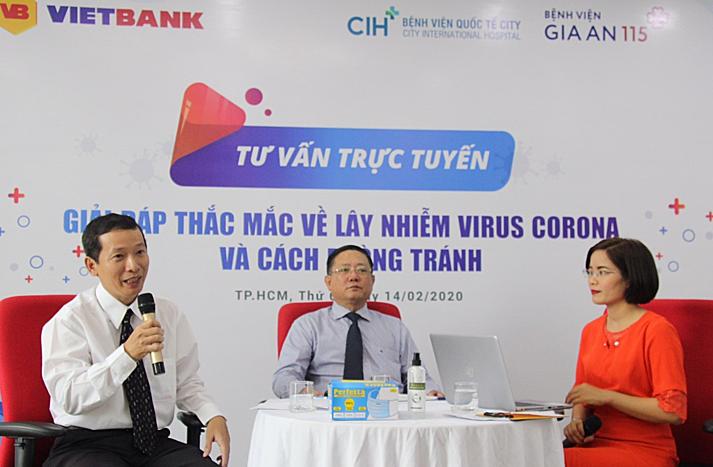 Vietbank tổ chức tư vấn trực tuyến Giải đáp thắc mắc về lây nhiễm virus corona và cách phòng tránh cho nhân viên và khách hàng.