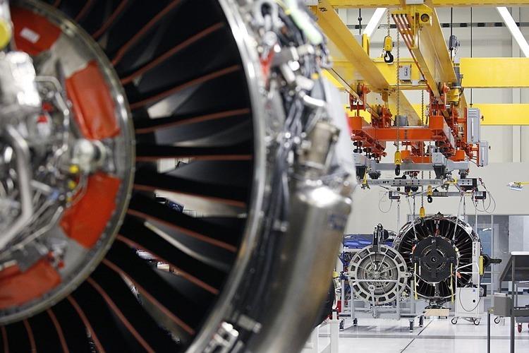 Động cơ LEAP dành cho máy bay của GE sản xuất tại Indiana, Mỹ. Ảnh: Bloomberg
