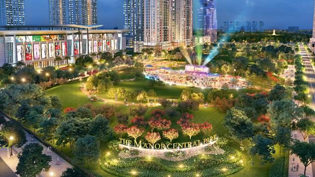 The Manor Central Park được xây dựng để trở thành điểm đến mới của Hà Nội.