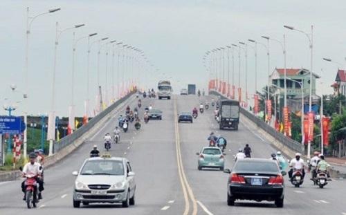 Cầu Vĩnh Tuy giai đoạn 1, khánh thành năm 2009. Ảnh: Quang Xuân