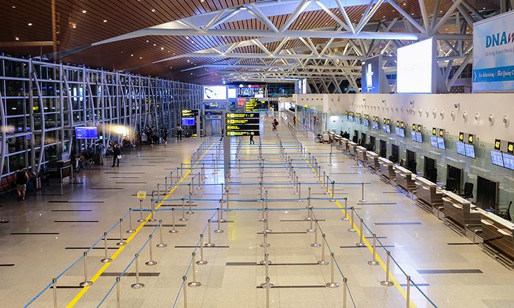 Sân bay Đà Nẵng vắng khách. Ảnh: Nguyễn Đông