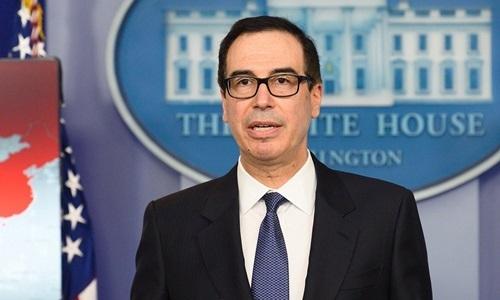 Bộ trưởng Tài chính Mỹ Steven Mnuchin. Ảnh: AFP