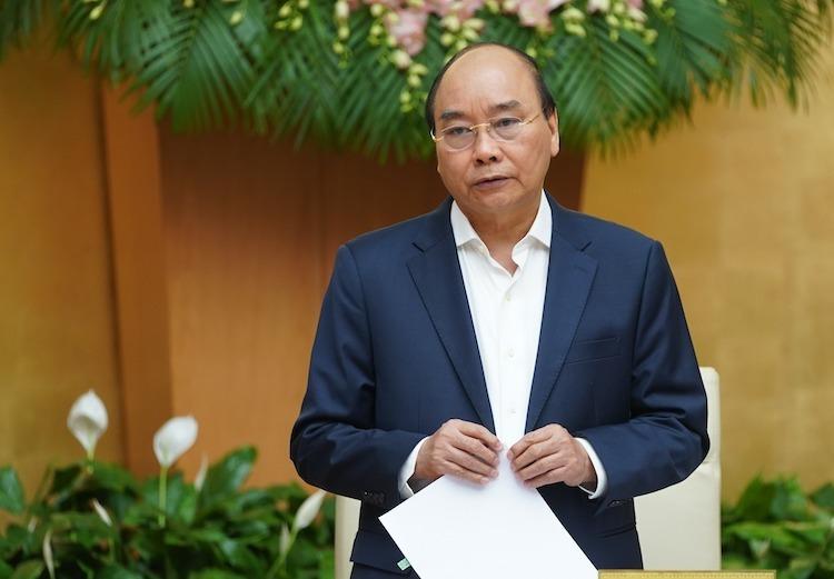 Thủ tướng Nguyễn Xuân Phúc chủ trì cuộc họp Chính phủ ngày 3/3. Ảnh: VGP