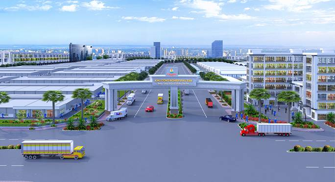 Phối cảnh Khu công nghiệpPhú Tânsau khi hoàn thiện.