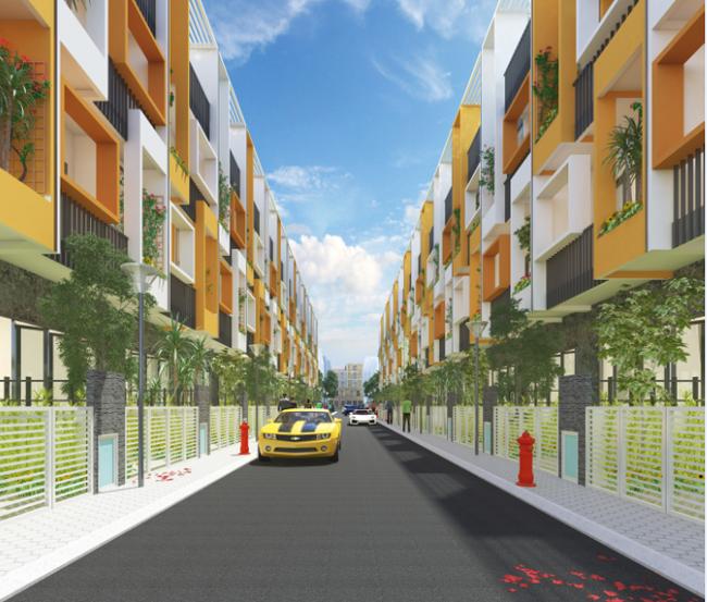 Phối cảnh nhà phố tại dự án D-Village.