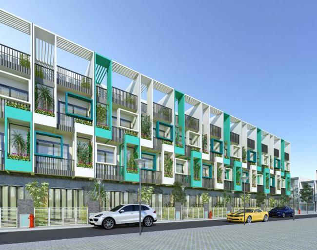 Phối cảnh nhà phố tại dự án.