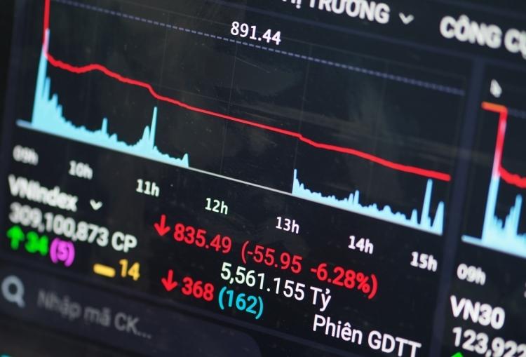 Phiên giao dịch ngày 9/3, VN-Index giảm 6,28%,đi vào lịch sử ngành chứng khoán là một trong những phiên tồi tệ nhất. Ảnh: Minh Sơn