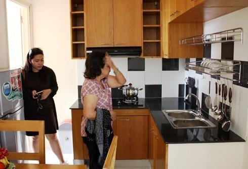 Một dự án căn hộ 25m2 được xây thí điểm để lấy ý kiến người dân tại TP HCM năm 2017. Ảnh: Vũ Lê