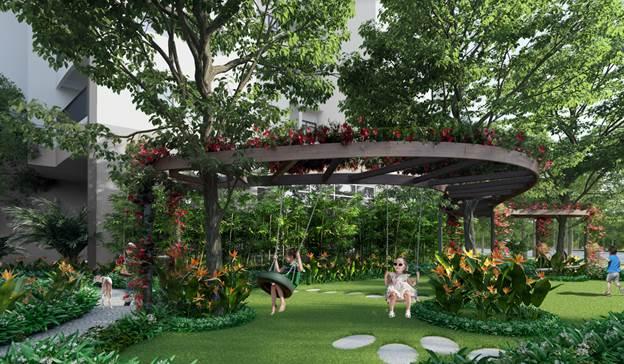 Không gian vui chơi cho trẻ em tại Le Grand Jardin