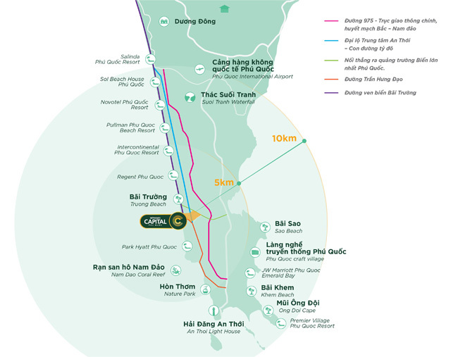Meyhomes Capital Phú Quốc nằm trong tâm điểm phát triển mới của Phú Quốc.