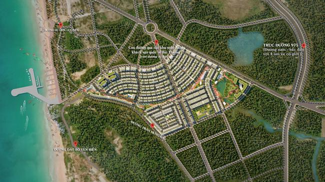 Meyhomes Capital Phú Quốc nằm giữa nhiều tuyến đường trọng điểm.
