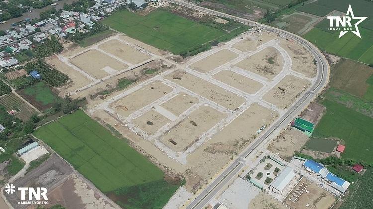 Các tuyến đường đang dần hình thành tại dự án.