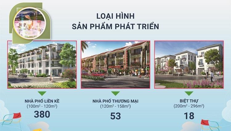 TNR Holdings Vietnam giới thiệu 3 loại hình sản phẩm tại dự án.