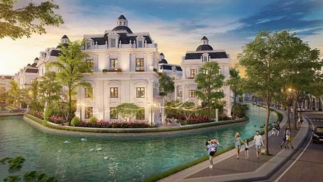 Phối cảnh khu biệt thự đơn lập King Island trong dự án Danko City Thái Nguyên.
