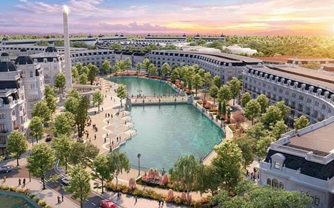 Dự án Danko City dành nhiều không gian cho cây xanh và mặt nước.