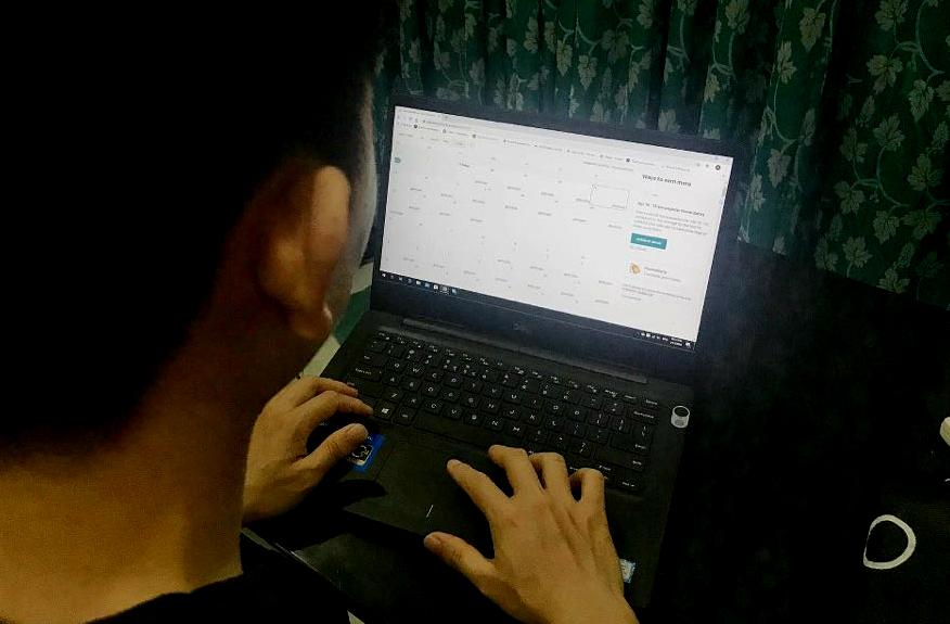 Trang quản lý khách đặt phòng tháng 3/2020 qua Airbnb của anh Minh Tú trống trơn. Ảnh: Hoàng Huy