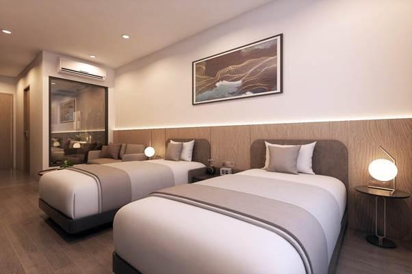 Phối cảnh căn hộ khách sạn tại dự án.