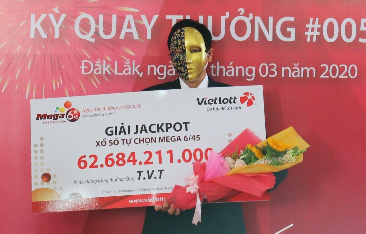 Viên chức nhà nước trúng Jackpot hơn 62 tỷ đồng