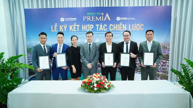 Các đại lý nhận chứng nhận phân phối dự án EcoCity Premia.