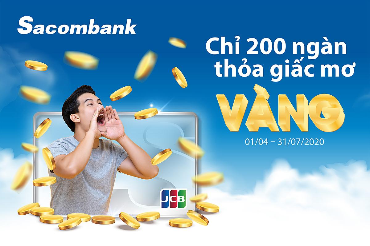 Cơ hội trúng vàng cho chủ thẻ Sacombank JCB - ảnh 1