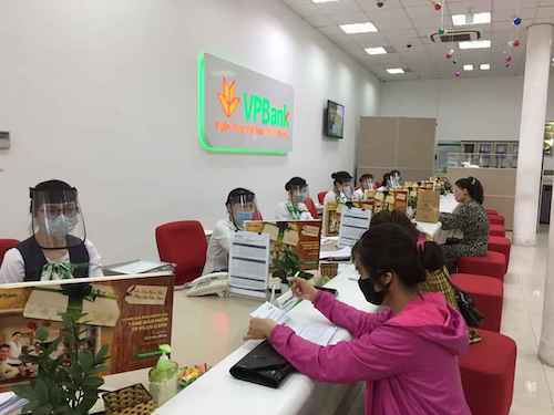 Quầy giao dịch của VPBank.