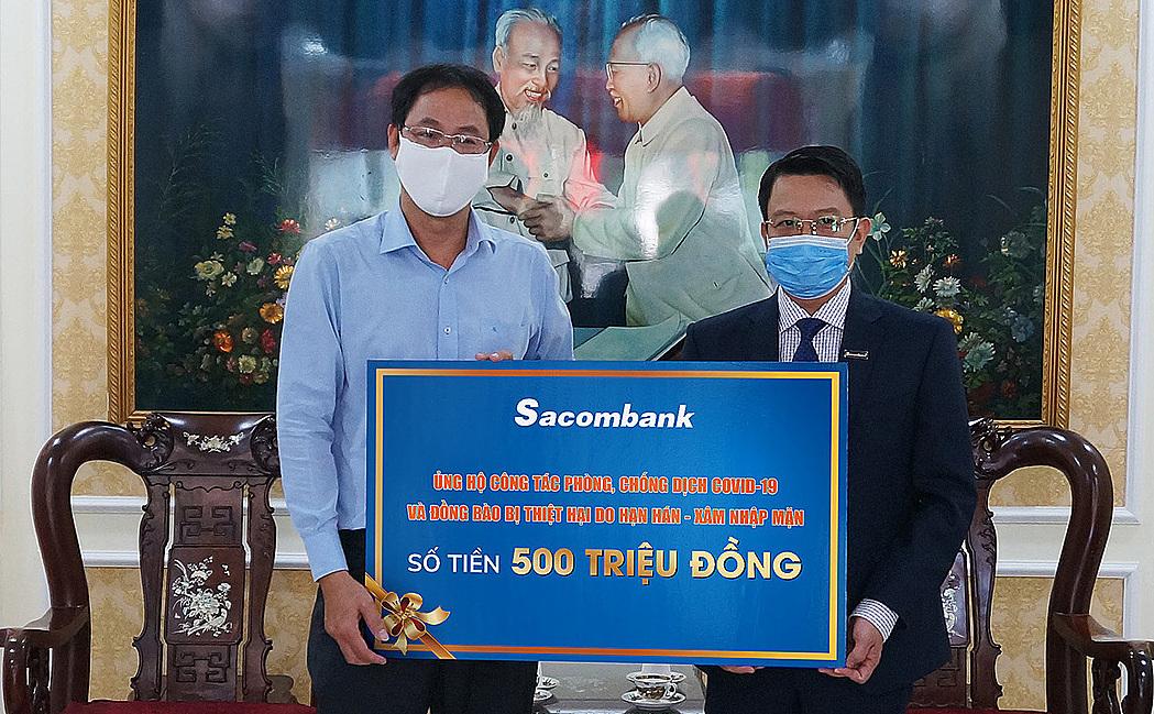 Sacombank góp thêm 500 triệu đồng chống Covid-19 và hạn mặn - ảnh 1