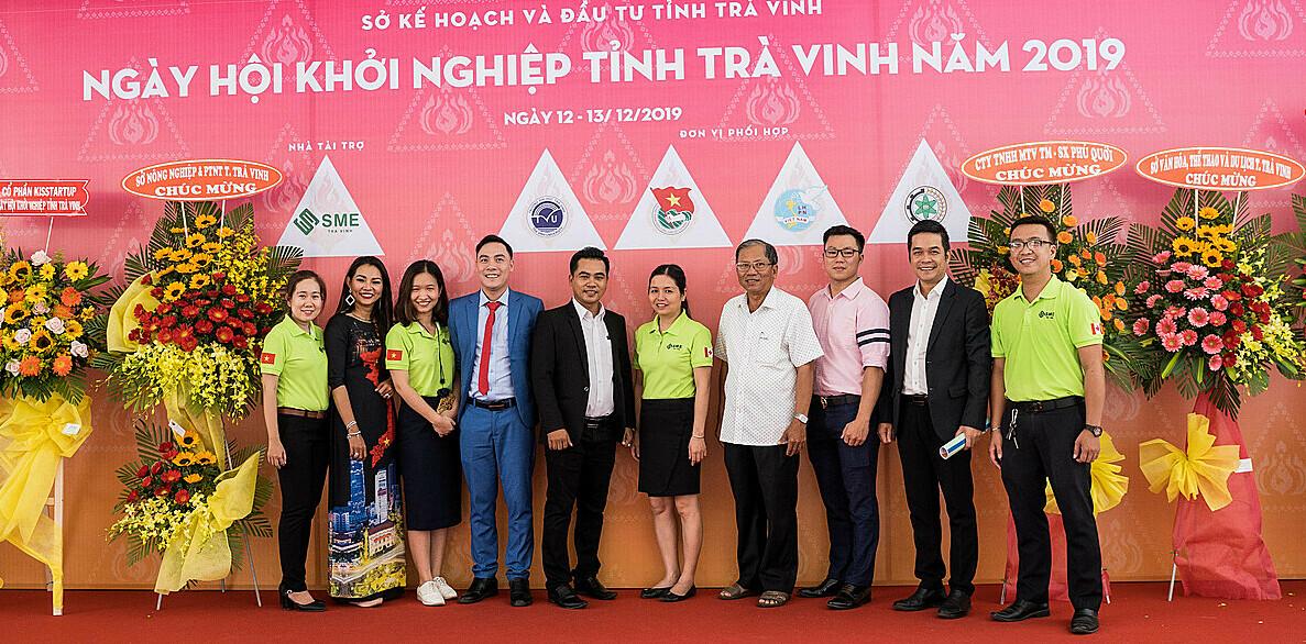 Đại biểu tham dự Ngày hội khởi nghiệp tỉnh Trà Vinh năm 2019. Ảnh: SME Trà Vinh.