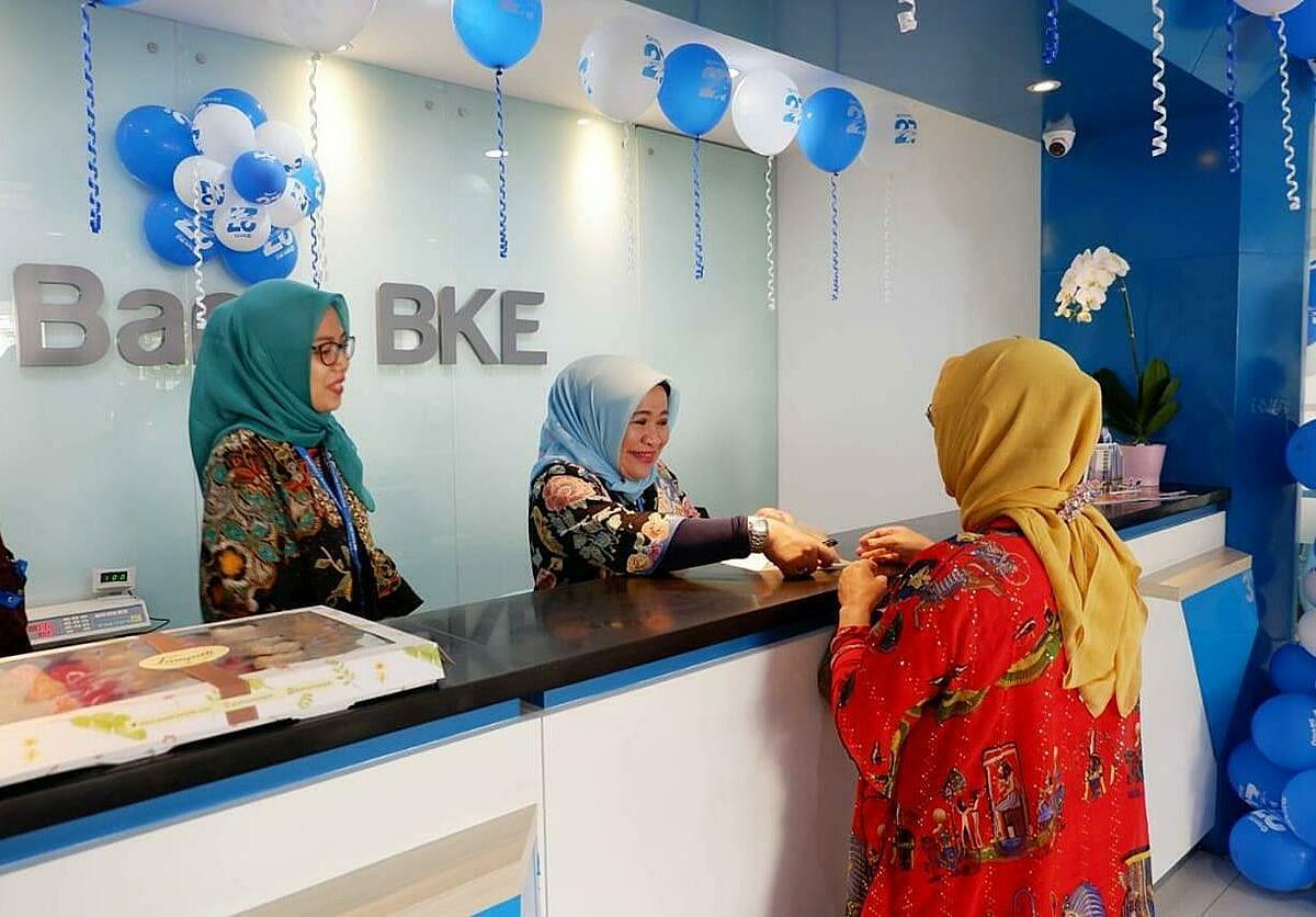 Trụ sở Ngân hàng BKE tại Jakarta trong ngày kỷ niệm 27 năm thành lập vào tháng 2/2019. Ảnh: Ngân hàng BKE.