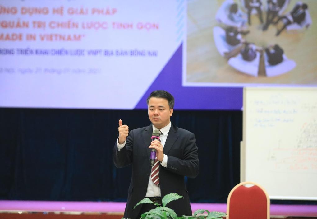 Ảnh 2: PGS.TS Nguyễn Đăng Minh, Chủ tịch Hội đồng tư vấn Viện Quản trị Tinh gọn GKM (Công ty GKM Việt Nam), nhà khoa học, giảng viên Đại học Kinh tế (ĐHQG Hà Nội). Ảnh: NVCC.