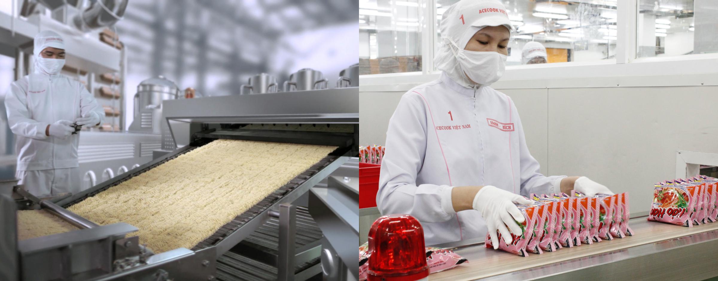 Các khâu sản xuất của Acecook vẫn được duy trì thời dịch.
